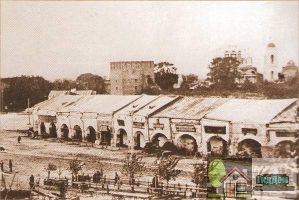 Торговые ряды на Житной площади на старой открытке