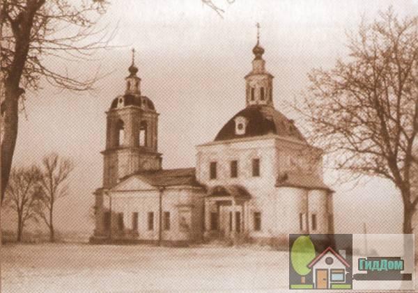 Церковь Воскресения Словущего на старой открытке