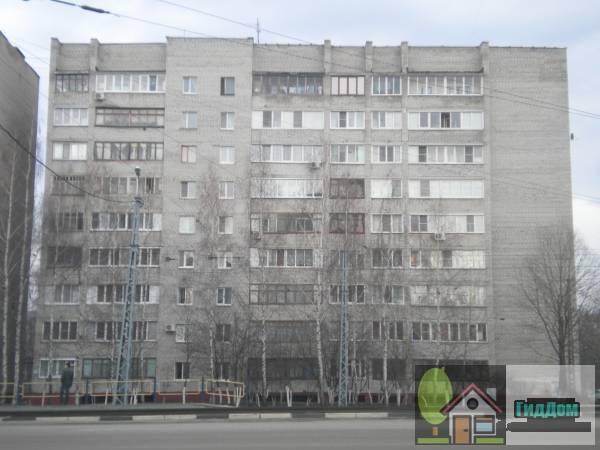 Вид спереди на многоэтажный жилой дом №51 на проспекте Кирова с западной стороны. Снимок сделан в светлое время суток при слабой облачности.