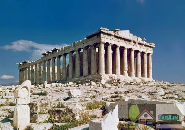 Руины афинского Парфенона