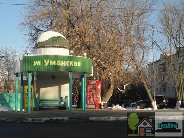 Автобусная остановка «улица Уманская» на улице Октябрьской Революции