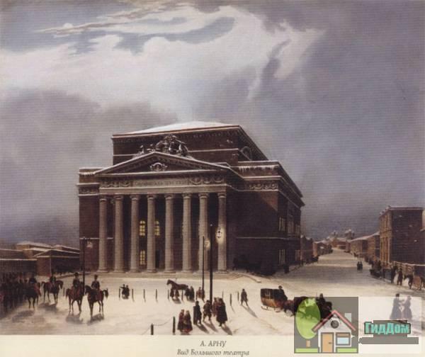 Здание Большого театра в XIX веке