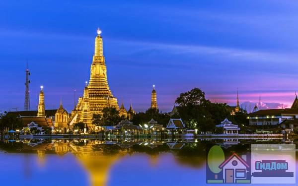 Храм Утренней Зари на закате