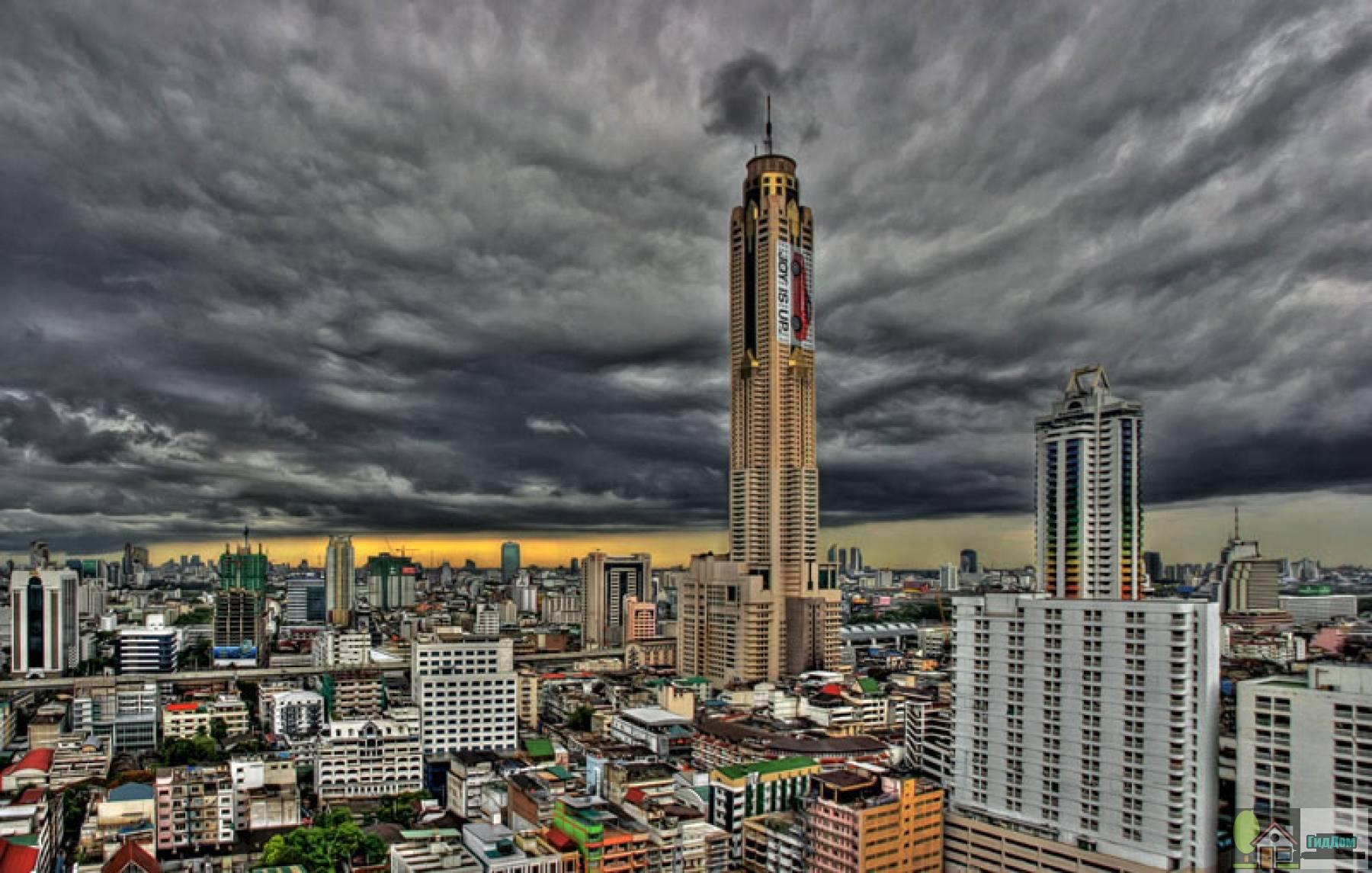Панорама Бангкока и башня Байок-2