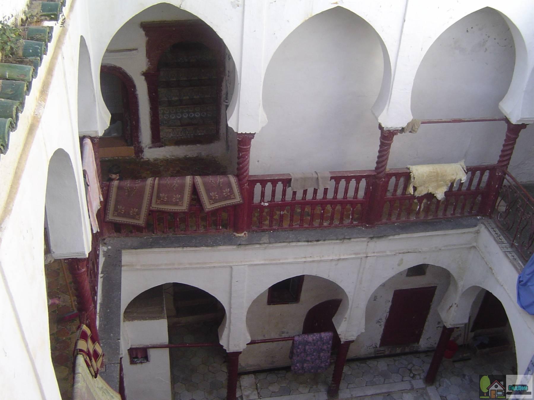 Внутренний двор дома в Касбе