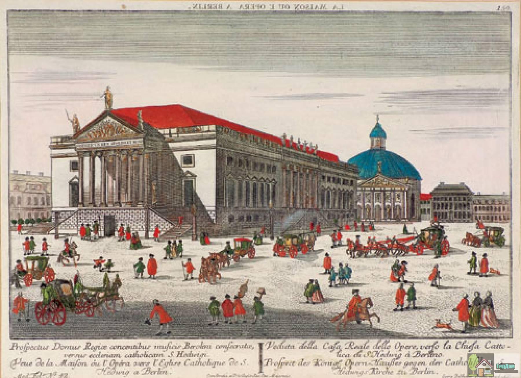 Панорама площади Бабеля в Берлине на рисунке конца XVII века Файл загружен из открытых источников.