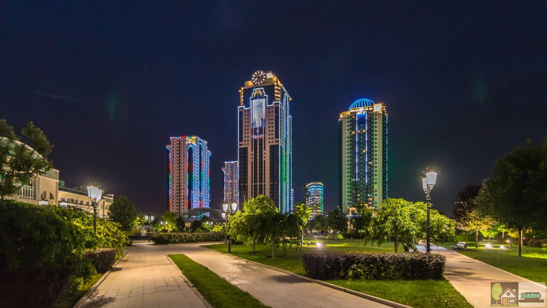 Панорама Грозный-Сити. Снимок загружен из открытых источников.