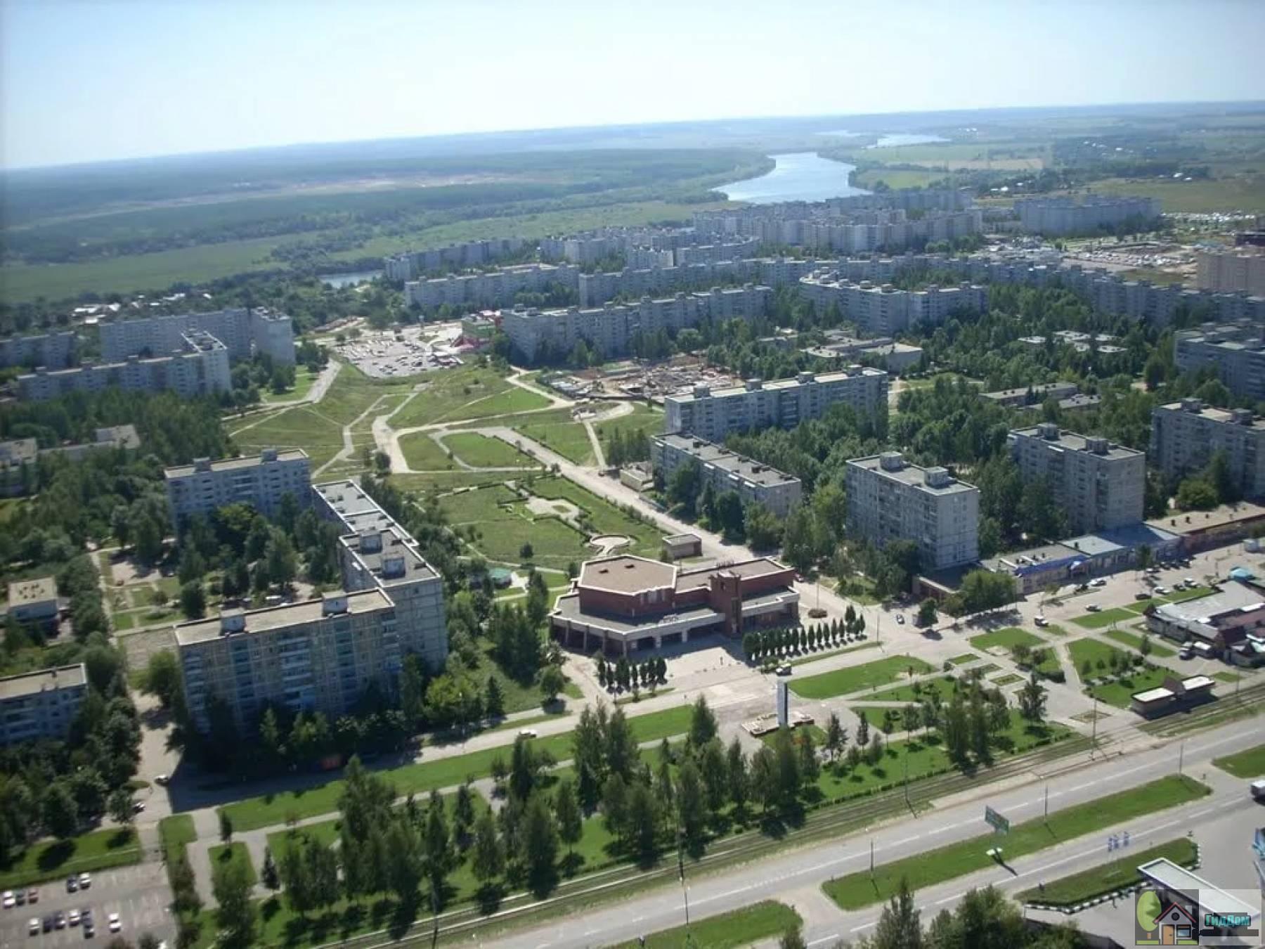 Панорама Колычево в Коломне. Снимок сделан в районе рынка Колычевский строитель. Снимок загружен из открытых источников.