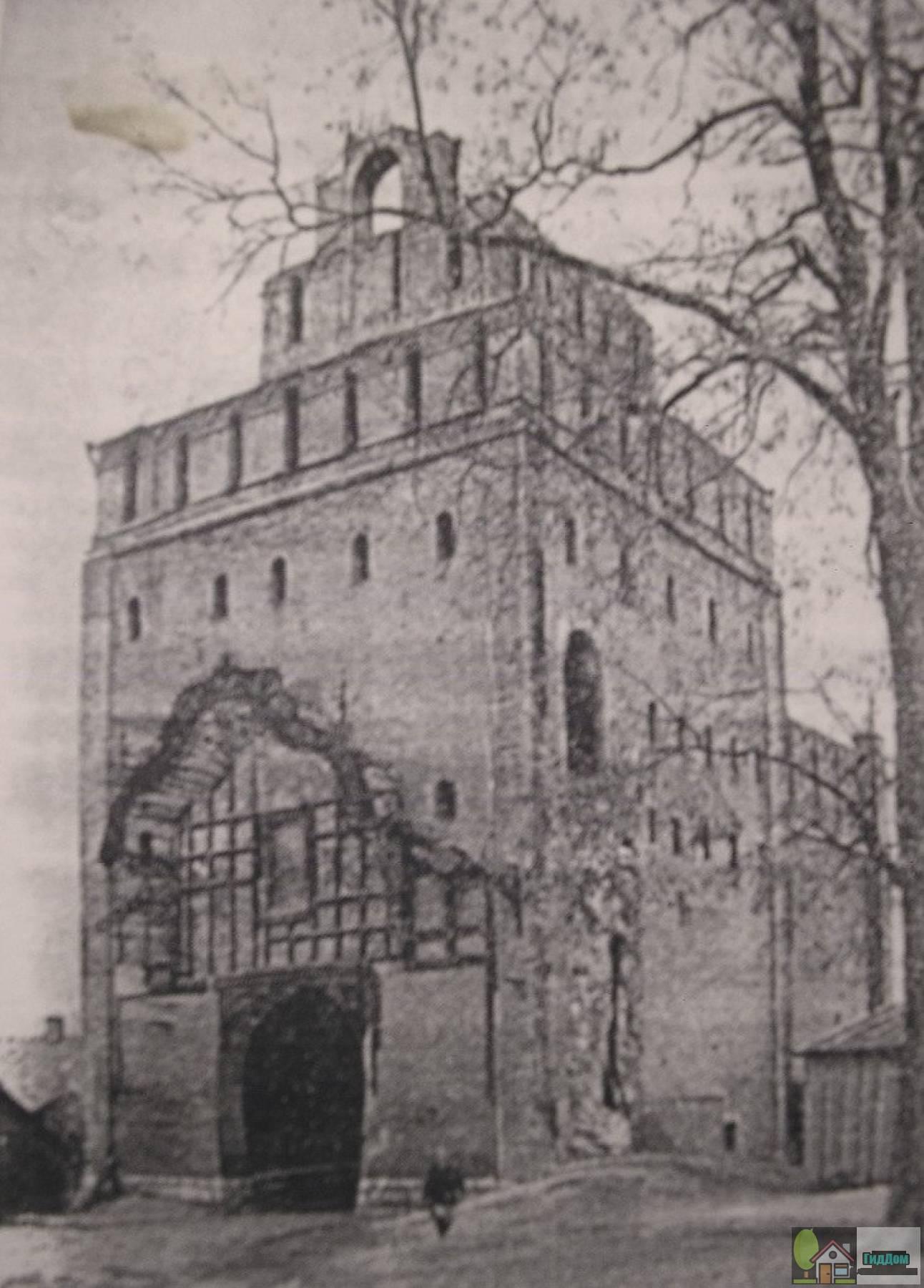 Ворота Пятницкие на старой фотографии