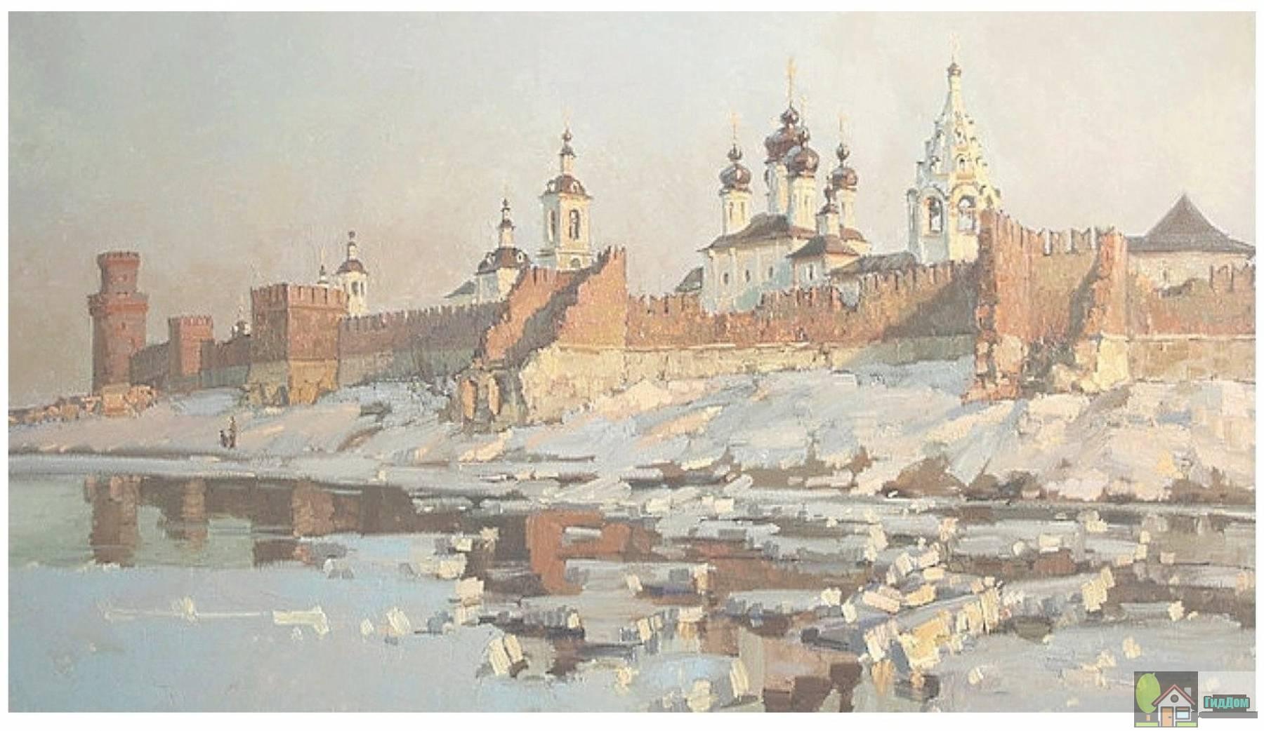 Коломенский кремль на старой гравюре