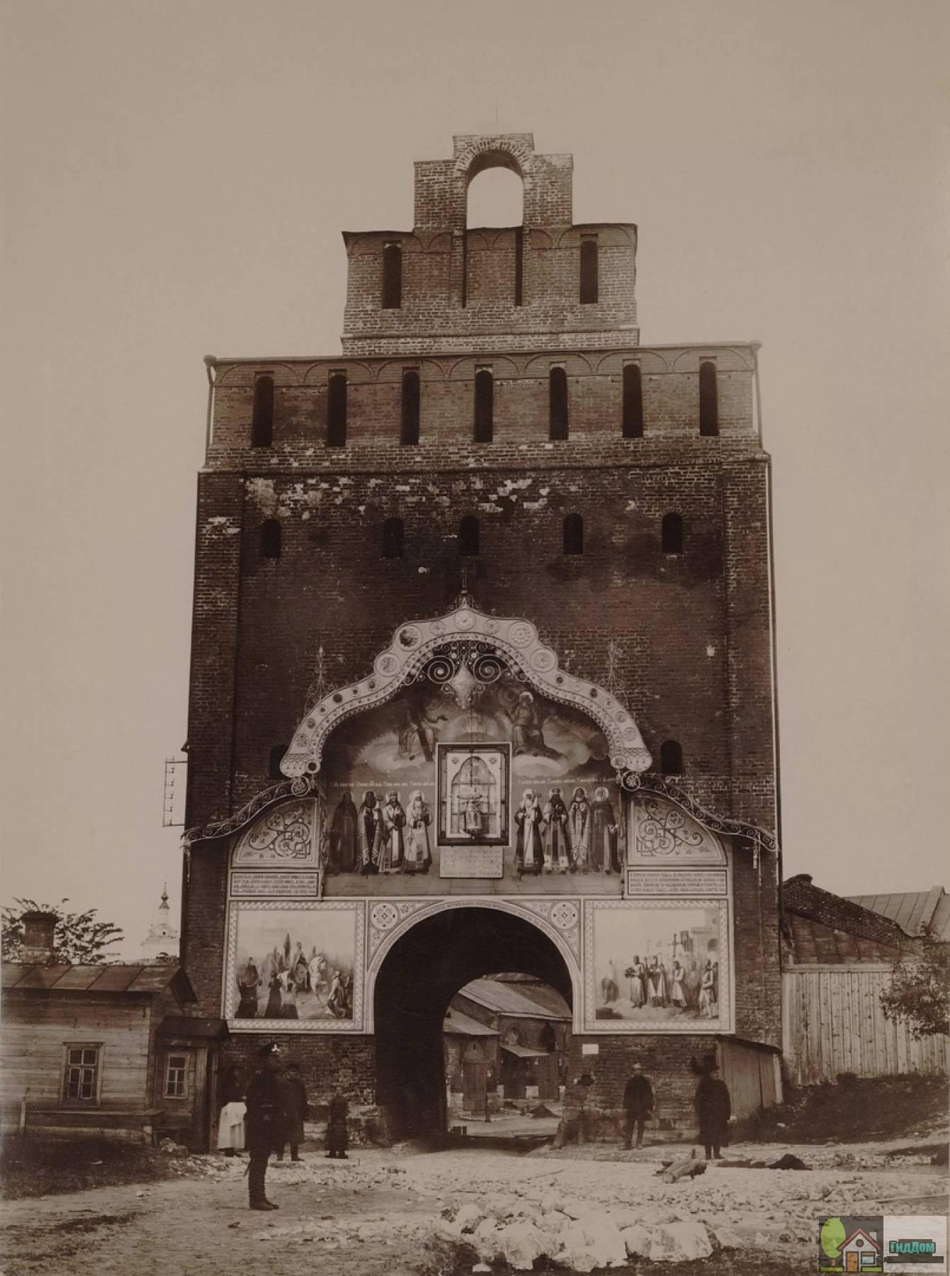 Пятницкие ворота на старом рисунке