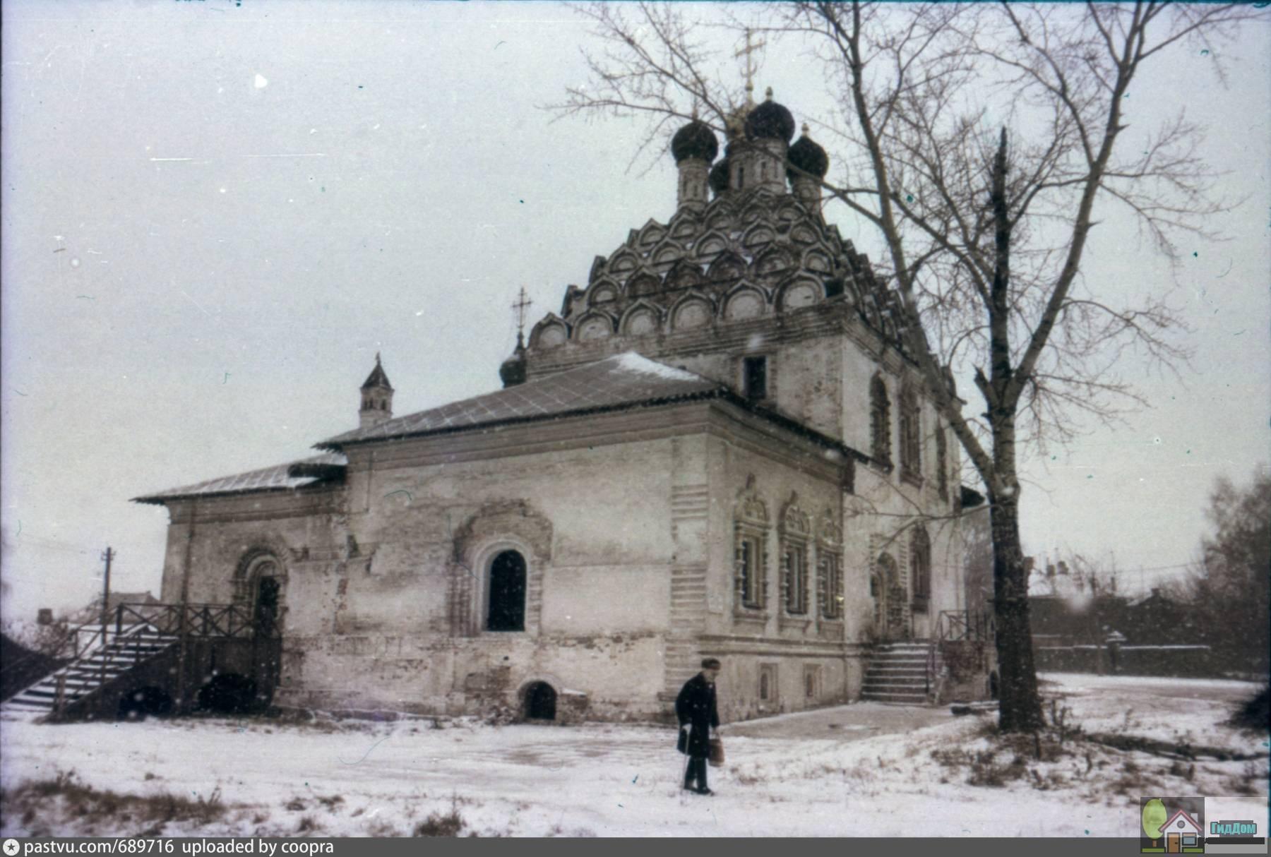 Храм Николы-на-Посаде в 1992 году. Снимок загружен из открытых источников. Автор неизвестен.