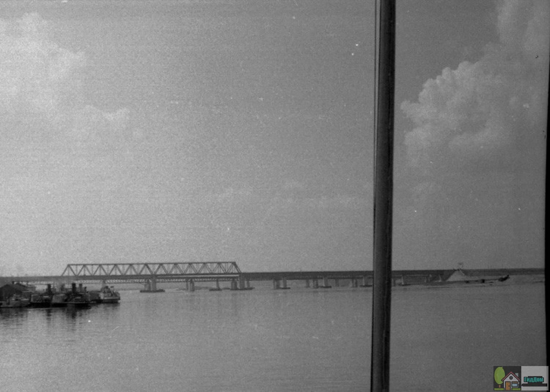 Щуровский железнодорожный мост в 1950-е годы