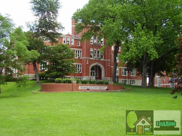 Старый главный, университет Маршалла (Old Main, Marshall University)