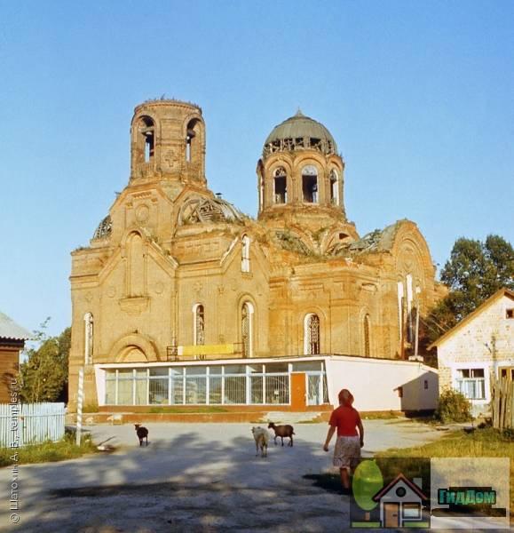 Никольская церковь в селе Горки, Коломенского района до восстановления