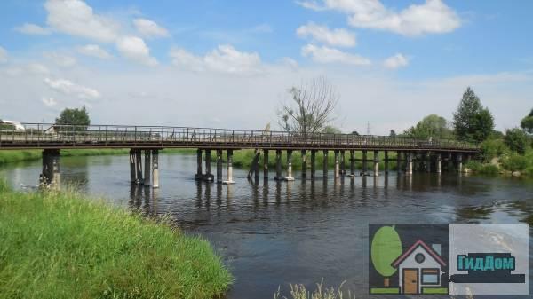 Москворецкий пешеходный мост у деревни Москворецкая Слобода