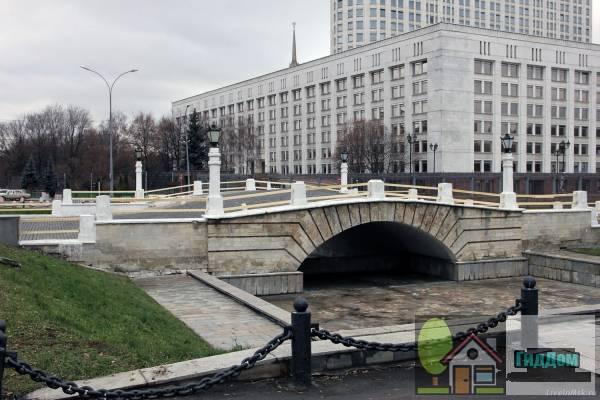 Горбатый мост через реку Пресня