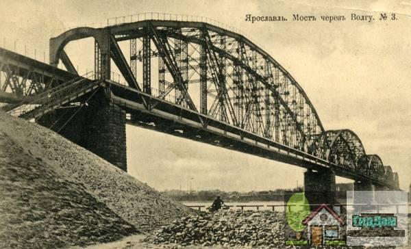 Николаевский (Ярославский) мост в начале XX века