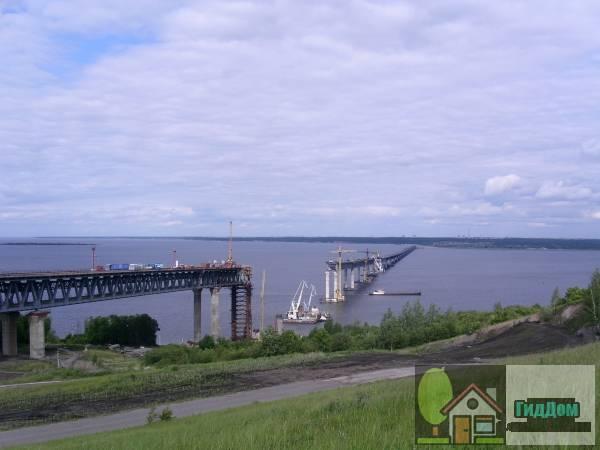 Строительство Президентского моста в 2008 году