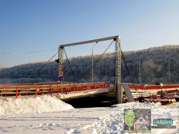 Озёрский понтонный мост Файл загружен из открытых источников.