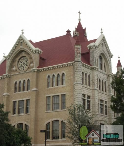 (St. Edward's University Main Building and Holy Cross Dormitory)